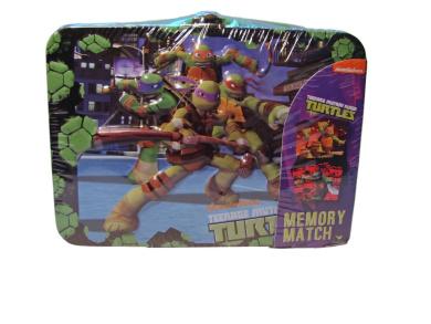 Teenage Mutant Ninja Turtles TMNT Memory Match Game in Mini Lunchbox Tin