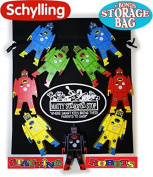 """Schylling Wood Stacking Robots Deluxe Set with Bonus """"Matty's Toy Stop"""" Storage Bag"""