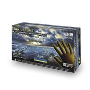 Adenna Dark Light 9 mil Nitrile Powder Free Exam Gloves (Black, Medium) Box of 100