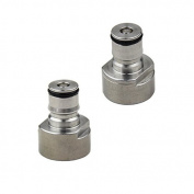UP100 Pair Stainless Steel Keg Coupling Ball Lock Liquid & Gas Adapter Cornelius Style for Draught Home Brew Beer Keg