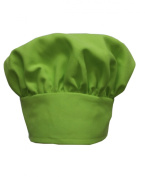 Chefskin LIME GREEN Big & Tall 2X XXL Chef Hat Extra 5.1cm hook and loop Adjustable