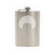 Mens Hair #6 - Curly Afro Style Baby Haircut - Etched 240ml Stainless Steel Flask