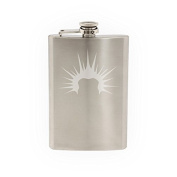 Mens Hair #4 - Liberty Spikes Punk Style Guys Haircut - Etched 240ml Stainless Steel Flask