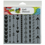 Crafters Workshop TCW6X6-396 Templates 15cm . x 15cm .-Arrows And Hearts