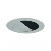 Jesco Lighting TM304BKCH Aperture Low Voltage Trim 7.6cm . Black Finish With Chrome Trim
