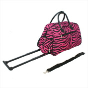 All-Seasons 8136122021T-B-F 50cm . Vacation Deluxe Carry-On Rolling Duffel Bag Pink Fuchsia Zebra