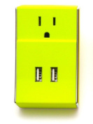 Clear Gear SW-001 Wally - Dual USB Plush DC Wall Charger Lime Green