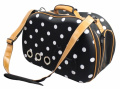 Pet Life B55PDMD Fashion Dotted Venta-Shell Perforated Collapsible Military Grade Designer Pet Carrier Polka Dotted - Medium