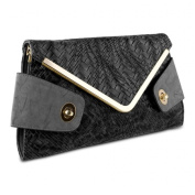 Mad Style 317842 Mad Style Owl Envelope Clutch Black