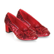 Pleaser Shoes 185855 Judy- Red Sequin Child Shoes
