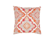 Jaipur Rugs PLW102023 Floral Red Polyester Pillow - 46cm .