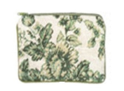 123 Creations C533CC-11cm x 18cm . A-Toil-Green Needlepoint Cosmetic Case