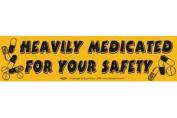 AzureGreen EBHEM Heavily Medicated Bumper Sticker