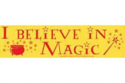 AzureGreen EBIBEM I Believe In Magic Bumper Sticker