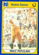 Autograph Warehouse 91435 Walt Patulski Football Card Notre Dame 1990 Collegiate Collection No. 75