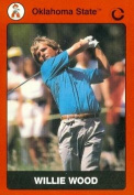 Autograph Warehouse 91780 Willie Wood Golf Card Oklahoma State 1990 Collegiate Collection No . 72