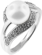 Doma Jewellery MAS01395-9 Sterling Silver Ring with Freshwater Pearl - Size 9
