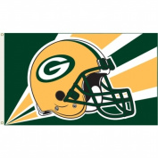 Annin Flagmakers 1358 Officially Licenced Green Bay Packers Flag-0.9m X 1.5m