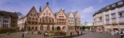 Panoramic Images PPI28358L Roemer Square Frankfurt Germany Poster Print by Panoramic Images - 36 x 12