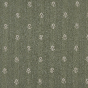 Designer Fabrics C628 140cm . Wide Green And Beige Flowers Country Style Upholstery Fabric