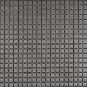 Designer Fabrics G683 140cm . Wide Silver Metallic Plush Squares Upholstery Faux Leather