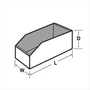 BOX2BUSINESS B8 Cardboard Bins 12 x 20cm x 11cm . - White