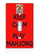 Keep Calm and Play Mahjong Light Switch Plate