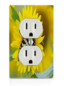 Butterfly on sunflower Electrical Outlet Plate