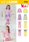 Simplicity Creative Patterns New Look 6256 Toddlers' Jumper and Knit Top and Leggings, A