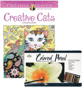 Creative Cats Creative Haven Colouring Book and Royal & Langnickel 36-piece Coloured Pencil Art Set
