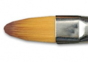 Richeson Orange Synthetic Brush Series 9165 Filbert 4