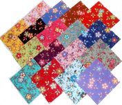 "17 25cm Layer Cake Beautiful 'Happy"" Quilt Fabric Squares"