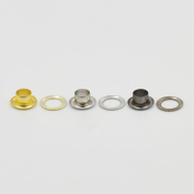 """250 sets Grommets Eyelets 1/8"""" 3/16"""" 4/16"""" 3/10"""" 3/8"""" 1/2"""" 3mm 4mm 6mm 8mm 10mm 12mm for Clothes Self Backing Nickle Gold Black"""