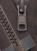 Zipperstop Wholesale YKK® 36cm Vislon Zipper ~ YKK #5 Moulded Plastic ~ Separating - 917 Dark Chocolate Brown