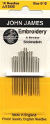 John James Embroidery Crewel Needles Package of 16