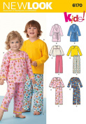 Simplicity Creative Patterns New Look 6170 Toddlers' and Child's Pyjamas, A