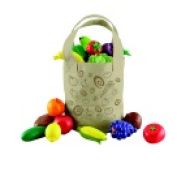 Learning Resources New Sprouts Fresh Picked Fruits And Veggie Tote Play Food Set