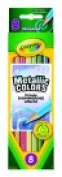 . Non-Toxic Coloured Pencil Set In Tuck Box - 3.3 mm. Thick Tip Set 8