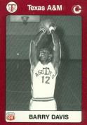 Barry Davis Basketball Card (Texas A & M) 1991 Collegiate Collection No.49