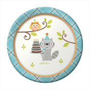 Creative Converting 415670 Happi Woodland - Boy 18cm . Lunch Plates - Case of 96