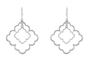 Fine Jewellery Vault UBERS85297AG Decorative Rhodium Treated 925 Sterling Silver Earrings 33.50 x 33.50 mm.