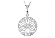 Fine Jewellery Vault UBPDS69944AGD Bezel Set Diamond Necklace 46cm . in 925 Sterling Silver of 0.04 Carat Diamonds