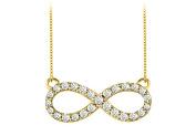 Fine Jewellery Vault UBPD3042Y14D Diamond Infinity Necklace in 14K Yellow Gold Half a Carat Diamonds