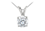 Fine Jewellery Vault UBPDAG4RD700CZ 7 Carat Round Brilliant Cut CZ Solitaire Pendant in 925 Sterling Silver Triple Quality