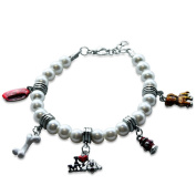 Whimsical Gifts 1000S-BR Dog Lover Charm Bracelet In Silver