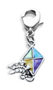 Whimsical Gifts 3735S Kite Charm Dangle Silver