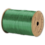 Deluxe Small Business Sales 263-2-5 0.6cm . x 100 yds. Pearlized Wraphia Ribbon Kelly Green