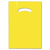 Deluxe Small Business Sales 248-0912-4 23cm x 30cm . Die-Cut Handle Bags Yellow