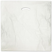 Deluxe Small Business Sales 248-2020-9 50cm x 50cm . and 13cm . BG Die-Cut Handle Bags White