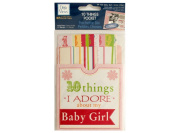 Bulk Buys CG589-96 10 Things I Adore About My Baby Girl Journaling Pocket